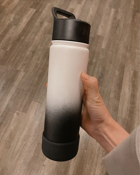 Insulated Water Bottle with Straw Lid Reusable Wide Mouth Stainless Steel Flask Thermos, 22oz with Anti-Slip Bumper Silicone Sleeve http://liketk.it/3cQfC #liketkit @liketoknow.it #LTKunder50 #LTKhome #LTKworkwear