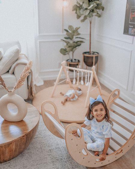 Janie and jack Disney Alice in wonderland French blue wood toys rocker leather padded playmat wayfair h&m home pampas ceramic vase plaster pampas http://liketk.it/3iuqe #liketkit @liketoknow.it #LTKbaby #LTKkids #LTKhome