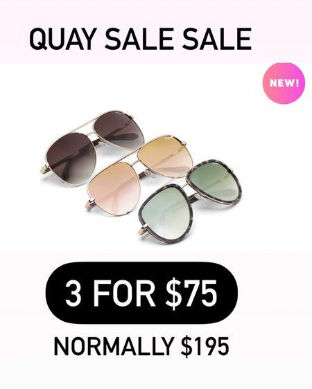 Quay sunglasses on major sale. http://liketk.it/3gDQd #liketkit @liketoknow.it #LTKstyletip #LTKunder50 #LTKunder100