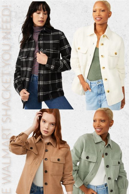 The shacket you need this season from Walmart! #walmart #walmartfashion #shacket #fallfashion  #LTKSeasonal #LTKstyletip #LTKunder50