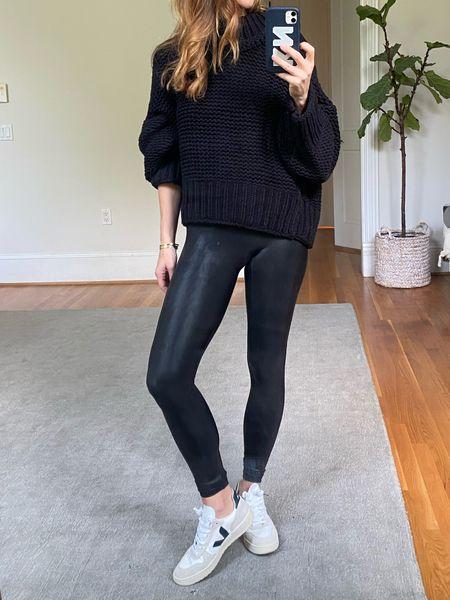 Spanx, Nordstrom sale still in stock, sneakers, fall outfits, black sweater outfit   #LTKunder100 #LTKsalealert #LTKstyletip