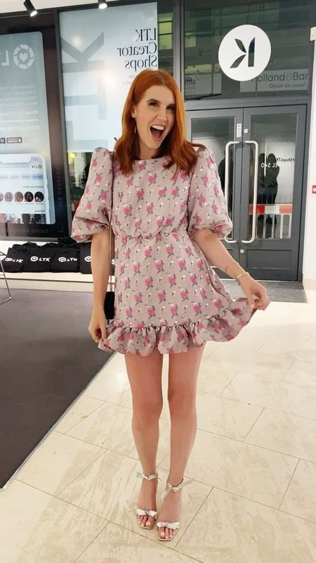 So happy with this little mini dress that I got for opening night of our installation in London.  I'm wearing a medium.  #LTKshoecrush #LTKwedding #LTKHoliday
