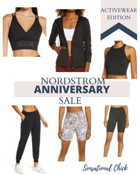 Biker shorts, sports bras and many activewear apparel on sale! Nordstrom Anniversary Sale. #nsale  #LTKunder100 #LTKfit #LTKsalealert