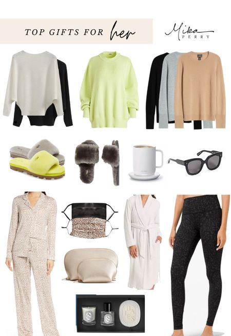 Top gifts for HER 🎄Holiday gift guide of sweaters, slippers, Amazon finds, Target finds, pajama sets, Nordstrom, coffee mug   #LTKunder50 #LTKgiftspo #LTKunder100