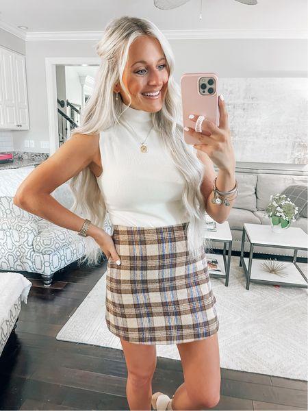 Bodysuit // Medium Skirt // Small (size up!)   #LTKunder100 #LTKstyletip #LTKunder50