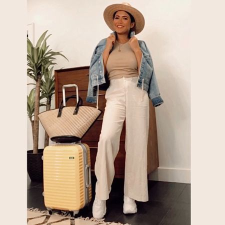 Vacation mode on. Airport or road trip outfit for your next destination with items you could wear on repeat. Follow me on the LIKEtoKNOW.it shopping app to get the outfits details for this look and others http://liketk.it/3jizm #liketkit @liketoknow.it #LTKtravel #LTKstyletip #LTKunder50 #LTKunder100 #summertravel
