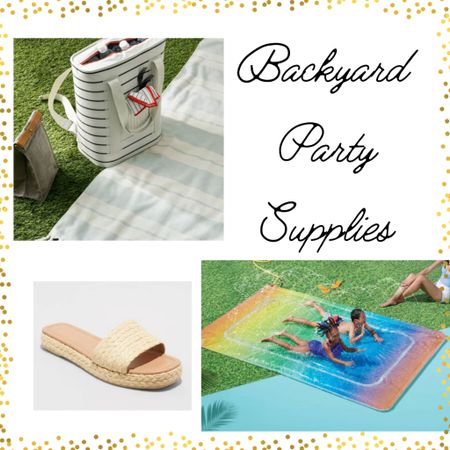 All from Target!  A cooler that's a backpack, a great activity for the kids, and the cutest raffia sandals. Would be great for an outdoor party, especially with Memorial Day and 4th of July coming up!  http://liketk.it/3gfct    #liketkit @liketoknow.it @liketoknow.it.home @liketoknow.it.family @liketoknow.it.brasil #ltkseasonal #competition @liketoknow.it.europe #LTKkids #LTKhome You can instantly shop my looks by following me on the LIKEtoKNOW.it shopping app    #memorialday #memorialday2021 #Bikini #Swimsuits #Whitedresses #Beachvacation #PatioFurniture#Sunglasses #Sandals #lakehouse #beachhouse  Memorial Day Memorial Day 2021 Bikini Swimsuits White dresses Beach vacation Patio FurnitureSunglasses Sandals Lake House Beach House