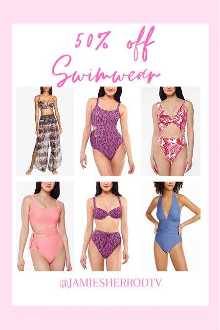 Hot girl summer ready ☀️ 50% off swimwear at Macy's!  #LTKunder100 #LTKSeasonal #LTKsalealert