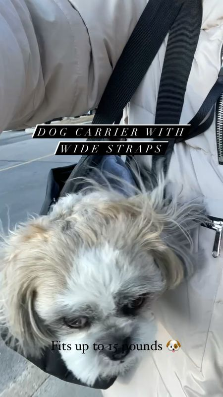 Dog carrier with wide straps. Fits our 15 pound male shih tzu. Please follow @hi.ralphie on LTK for more dog products we love. 🐶    #LTKitbag #LTKfamily #LTKunder50