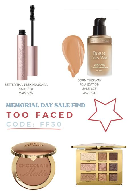 http://liketk.it/3giEl #liketkit @liketoknow.it #LTKsalealert Memorial Day sale. Too faced make up
