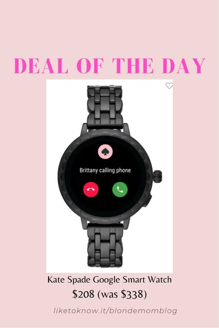 Love this Kate Spade smart watch at Nordstrom!   #katespade #watch #womenswatch #smartwatch #googlewatch #fitnesswatch #giftsforher #sportwatch