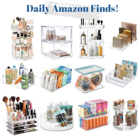 Today's Amazon Daily Finds feature these acrylic home organizers!     #LTKunder100 #LTKbeauty #LTKhome