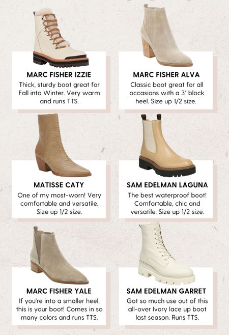 Best of Fall boots: my favorite styles!