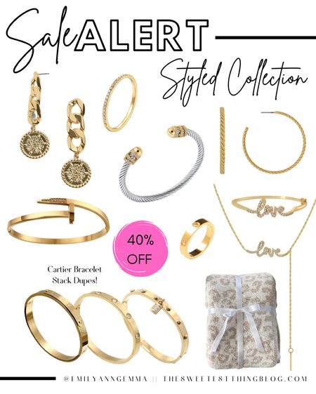 Styled Collection, Cartier Dupe Bracelet, Cartier Dupe ring, David Yurman Dupe, Barefoot Dreams Blanket Dupe, Costume Jewelry, Affordable Jewelry, Gold Jewelry, Emily Ann Gemma http://liketk.it/3o6Or    #LTKSale