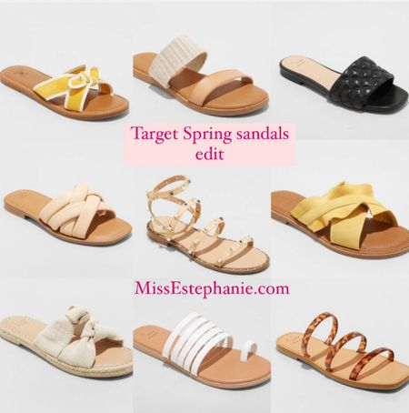 Spring sandals at Target !! // great time to stock up or add a new pair for Spring!!   Spring shoes // target style // sandals // sandals for Spring  #LTKunder50 #LTKsalealert #LTKshoecrush