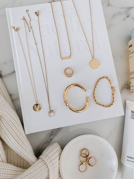 Dainty gold jewelry 💫  Many on sale   #LTKSale #LTKunder50 #LTKsalealert