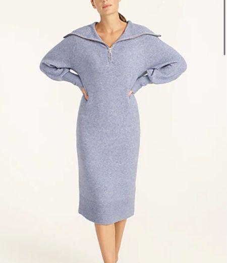 Blue half zip sweater dress   #LTKHoliday #LTKsalealert #LTKSeasonal