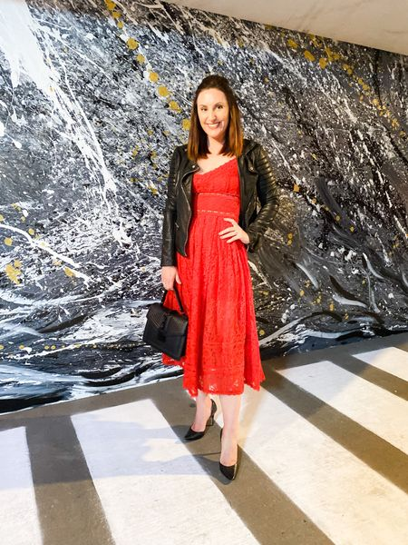 Lace and leather at Kansas City Fashion Week!      #LTKSeasonal #LTKstyletip #LTKunder50