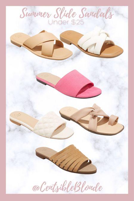 Summer slide sandals under $25 from target. Beach sandals.    http://liketk.it/3iuTQ #liketkit @liketoknow.it #LTKunder50 #LTKshoecrush #LTKtravel