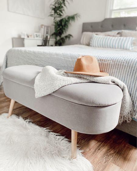Velvet storage bench great for bedroom at the bottom of the bed. #homedecor http://liketk.it/3eAWx #liketkit @liketoknow.it #LTKhome #LTKstyletip