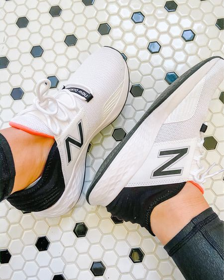 These sneakers are my new obsession!! White, black and a pop of coral? Yes please! http://liketk.it/2K29C #liketkit @liketoknow.it #LTKfit