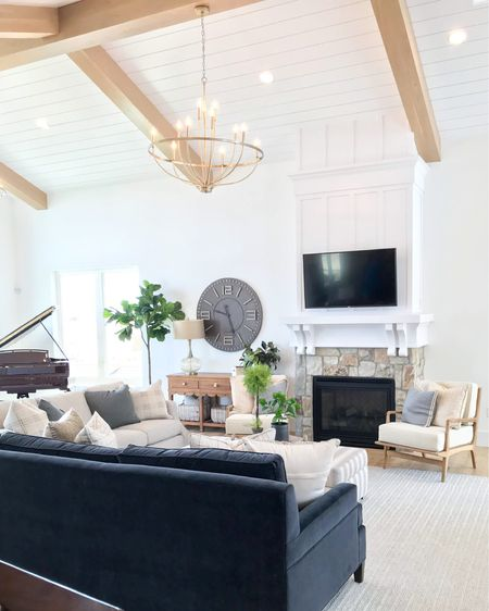 Are ceiling beams still in? What do you think?  I saw this trend a lot in 2018 but I've noticed it dying down in newer homes. I think the more detail the better 😍  . . . 📷: @remodelaholic  Builder: Magleby Communities   http://liketk.it/38bT9 #liketkit @liketoknow.it  #simplystyleyourspace #falldecor #livingroom #home #interiordesign #frenchcountrystyle #magnoliahome #hgtv #farmhousechic #fallinspo #interiorgoals #houseenvy #luxuryhomes #customehomes #homedesign #interiorinspirations #ceilingbeams #imaremodelaholic
