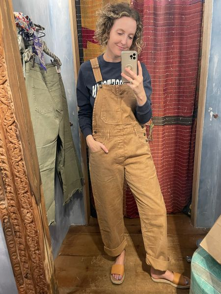 Comfy overalls perfect for fall! Wearing a medium (comes in 7 colors)  #LTKunder100