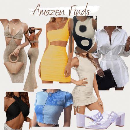 http://liketk.it/3gofj #liketkit @liketoknow.it #LTKunder50 #LTKstyletip Amazon fashion, found it on Amazon, trendy styles, summer outfit, summer style, bodycon dress, beach vacation outfits, heels, ruched dress