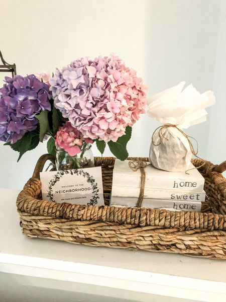 Easy thoughtful housewarming gift idea using a decorative tray and stamped books    #LTKhome #LTKstyletip #LTKunder50