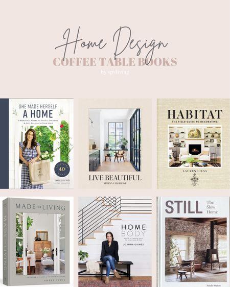 My favourite home decor coffee table books!   #LTKhome #LTKunder100 #LTKunder50