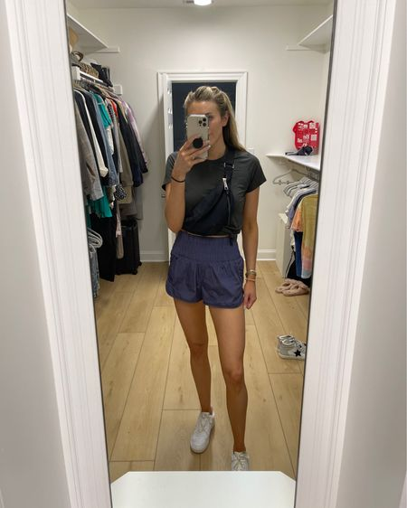 Cant link tee (from FIGS), but shorts are size small (TTS) & size down 1/2 size in sneakers. @liketoknow.it #liketkit http://liketk.it/3jPnf #LTKunder50 #LTKfit