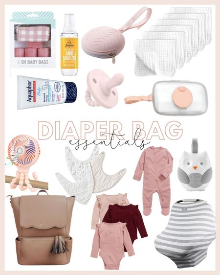 What to keep in your diaper bag! Baby essentials for newborns 💕 everything from the best burp cloths, the cutest diaper bag, and more!   #LTKfamily #LTKbaby #LTKbump