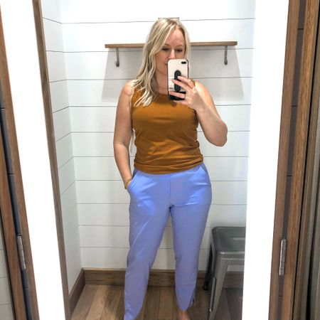 Well I have officially fallen in love with Athleta. These pants are the most comfortable thing ever! Size 8 pants, medium top. Perfect #hocspring colors.   #houseofcolour   #LTKtravel #LTKSeasonal