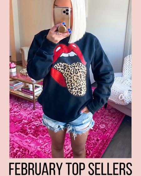 Red lips leopard tongue sweatshirt! Rolling Stones. http://liketk.it/2L9da @liketoknow.it #liketkit