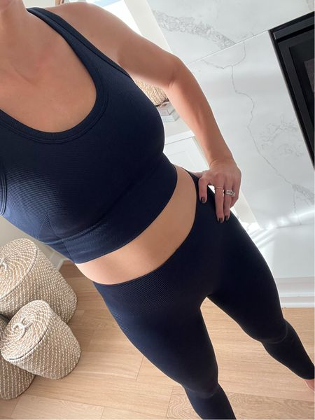 Spanx workout set: true to size (M in bra and S in leggings)  Discount code TAYLORXSPANX   #LTKGiftGuide #LTKfit #LTKsalealert