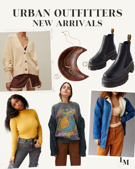 Urban Outfitters new arrivals! — Cardigan, oversized jacket, turtleneck, graphic sweatshirt, platform Chelsea boots   #LTKstyletip #LTKGiftGuide #LTKshoecrush