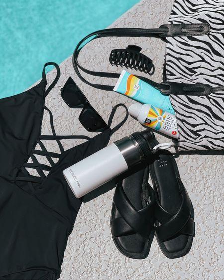 Love black & white essentials for Summer! 🦓 #LTKunder100 #LTKswim #LTKunder50 #swim #swimsuit #onepiece #lulus #lovelulus #blackswimsuit #swimmie #zebraprint #beachbag #tote #bag #jawclips #hairclips #sunglasses #sunnies #suncreen #bareminerals #mineralsunscreen #sandals #slides #waterbottle #flask #bottle #asobu #amazonfinds #targetfinds #summerstyle #vacay #beach #poolside #liketkit @liketoknow.it http://liketk.it/3glyr