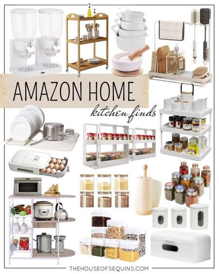 Amazon home kitchen organization. #kitchenstorage #houseofsequins #spicerack #kitchenessentials #foodstorage Follow my shop on the @shop.LTK app to shop this post and get my exclusive app-only content!  #liketkit  @shop.ltk http://liketk.it/3nnbu  #LTKunder100 #LTKhome #LTKunder50