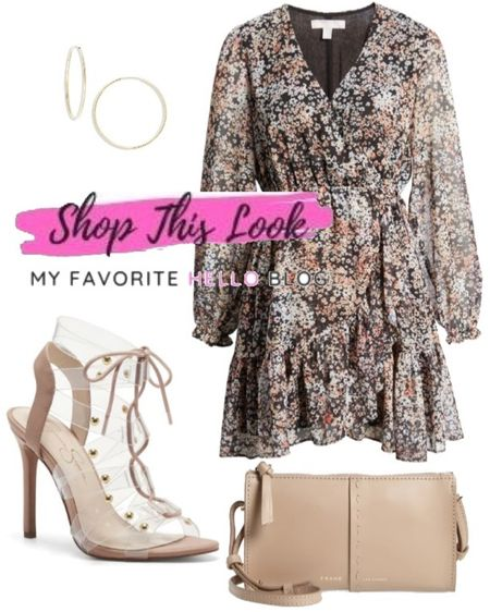 Nordstrom anniversary sale summer dress date night outfit. Floral dress with strappy sandals and taupe purse    http://liketk.it/3jyn4 #liketkit @liketoknow.it #nsale #nordstrom  #LTKstyletip #LTKitbag #LTKshoecrush