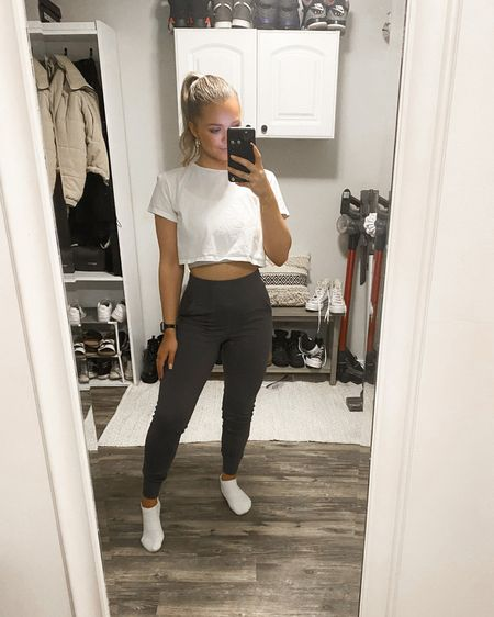 I've been OBSESSED with these pants they're the BEST lululemon dupe for their align joggers & only $26!!! I like them fitted so I wear an xs. I have the grey, black & sand in full length! I've worn them in my 2 recent vlogs if you wanna see them in action! http://liketk.it/3eEPw #liketkit @liketoknow.it