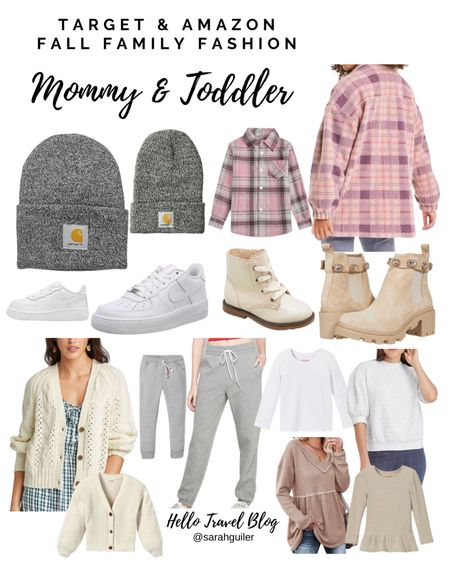 Recent fall fashion purchases:  Family matching. Matching family. Mommy and me fashion. Fall outfits. Shacket. Fall boots. Crop sweater. Beanie. Toddler fashion. Target style. Amazon finds. Flannel. Waffle knit top.  Carhartt beanies  #LTKkids #LTKfamily #LTKSeasonal