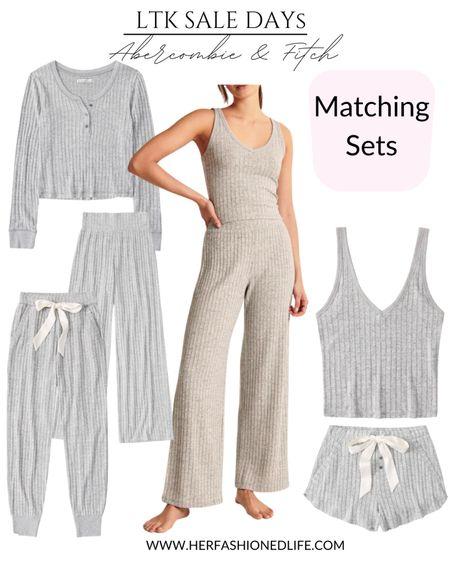 Like to know it day, matching sets, ambercrombie, lounge set, cozy outfit, shopping board, Herfashionedlife   #LTKsalealert #LTKDay #LTKunder50