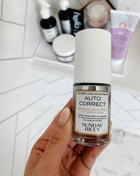 A new eye cream I'm loving! Autocorrect by Sunday Riley has caffeine and plant extract so it brightens your eyes in the morning! Also linking favorite shower products, body wash, shampoo, and conditioner.  #LTKbeauty #LTKstyletip #LTKunder50