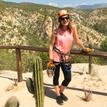I survived my first zip line adventure, all 8 lines!! You guys, it was so thrilling 🙌🏼 And these views 😍If you come to Cabo, you need to check out @wildcanyon They also have atv rides, bungee jumping, and more! @liketoknow.it http://liketk.it/2x89V     #liketkit #LTKstyletip #LTKfit  #wildcanyon #ziplining #explorecabo #travelblogger #vacationstyle #casuallook #nike #fitcouplegoals #caboadventures