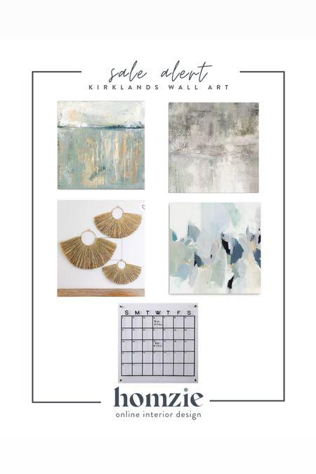 Kirklands wall art sale, affordable wall art, canvas art, abstract art, affordable art, canvas art, blue abstract art, acrylic calendar, coastal wall decor, wall decor   #LTKsalealert #LTKhome