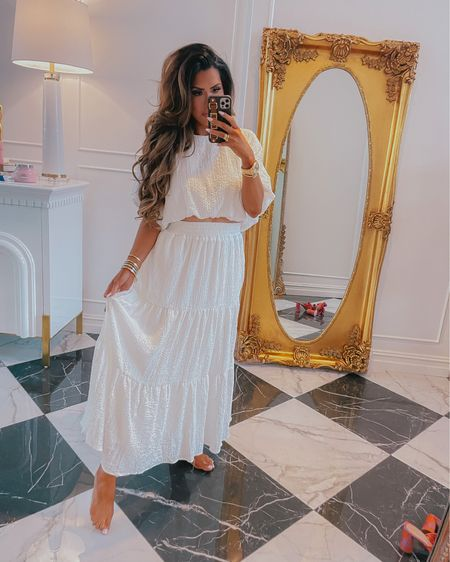 http://liketk.it/3ga2r #liketkit @liketoknow.it summer fashion, summer 2021, wedding guest dress, red dress, Memorial Day, beach vacation, summer dress, two piece outfit, dress, white dress, maxi dress, Emily Ann Gemma