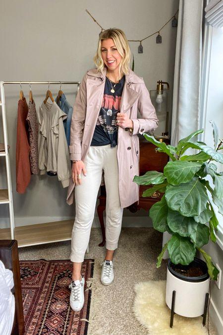 http://liketk.it/3by3q #liketkit @liketoknow.it  My Spring Capsule 2021: -graphic tee -joggers  -white sneakers  -trench coat  #LTKunder100 #LTKstyletip #LTKshoecrush