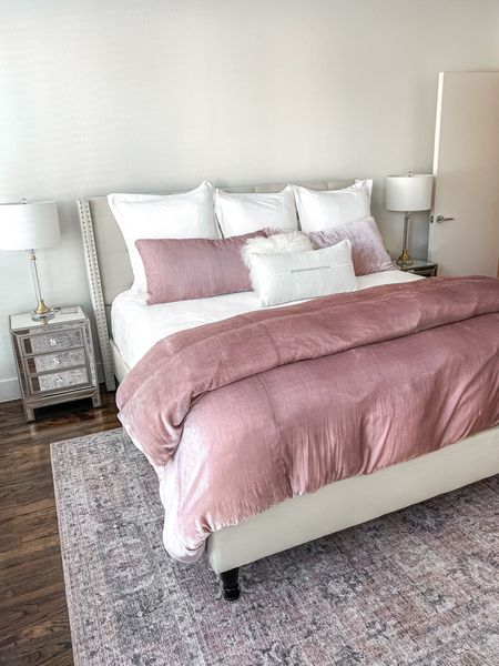 Bedroom White, pink, neutral    #LTKunder100 #LTKstyletip #LTKhome