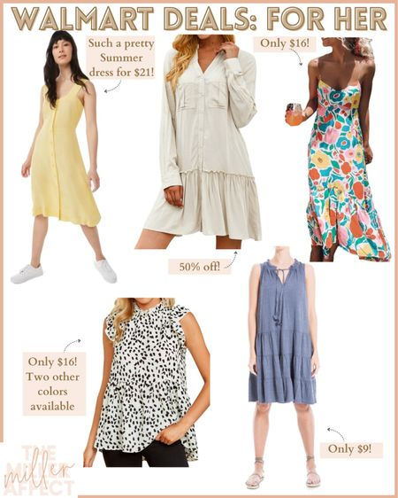 Deals for her at Walmart! Such great deals on these dresses! http://liketk.it/3hZYm #liketkit @liketoknow.it #LTKunder50 #LTKsalealert #LTKstyletip