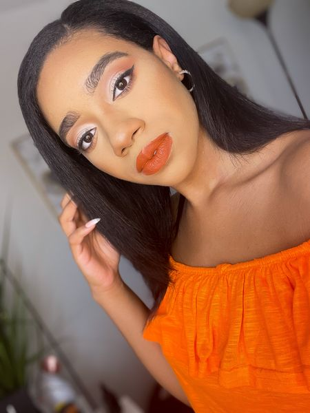 "Orange Summer makeup using the NYX ""brights"" Ultimate Shadow Palette. 🧡   #LTKunder100 #LTKbeauty #LTKSeasonal"